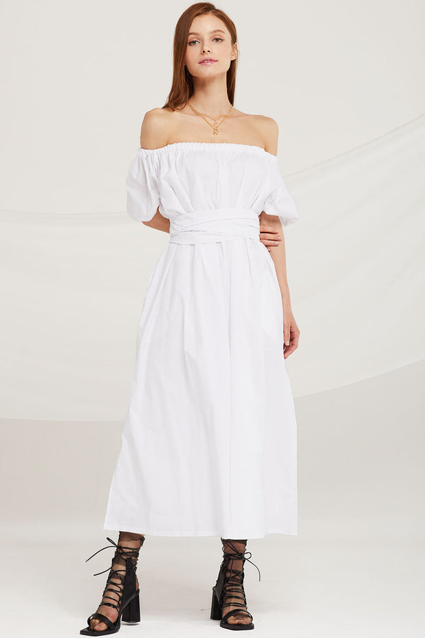 Lilian Off Shoulder Two-Way Maxi Dress