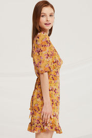Eleanor Ruffle Hem Floral Dress