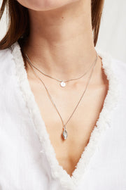 Coin & Cowrie Shell Layered Necklace by STORETS