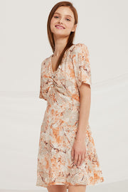 Luna Pictorial Print Dress