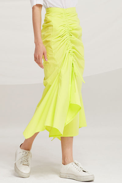 Everly Ruched Side Midi Skirt