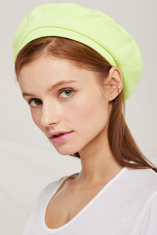Button Top Beret by STORETS