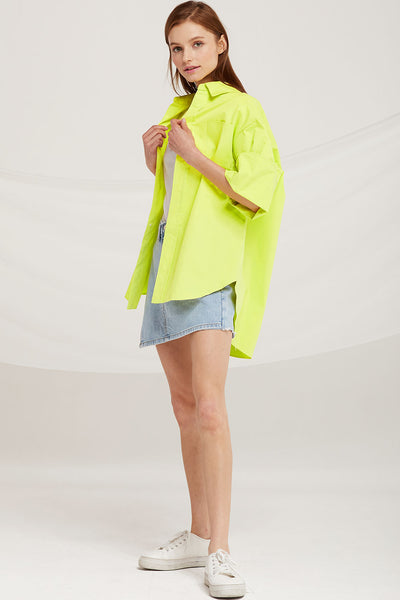 Allison Oversized Wide Sleeve Shirt by STORETS