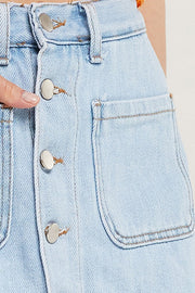 Serenity Pocket Denim Skort