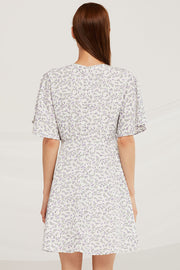 Layla Ruched Drawstring Floral Dress