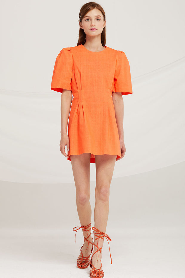 Emily Puff Sleeve Mini Dress by STORETS