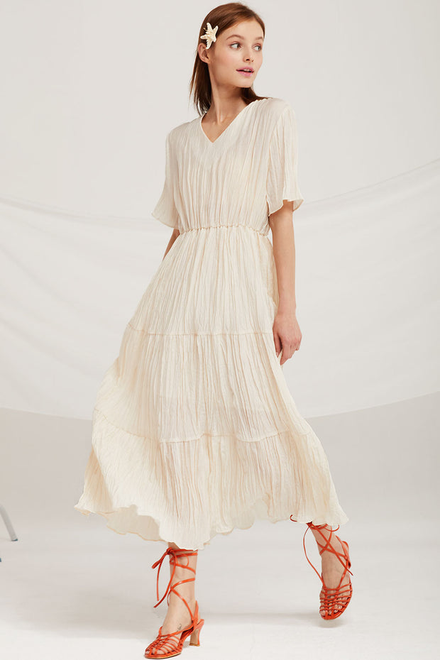 Mia Crinkle Maxi Dress