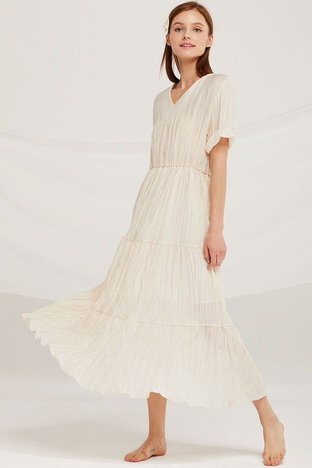 storets.com Mia Crinkle Maxi Dress