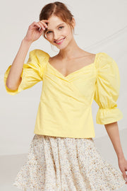 Lucy Puff Sleeve Wrap Top by STORETS