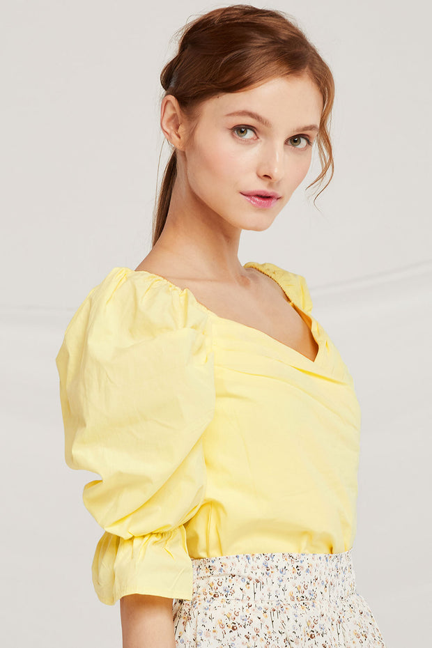 Lucy Puff Sleeve Wrap Top