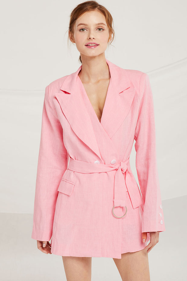 Brooklyn Asymmetric Double Lapel Jacket by STORETS