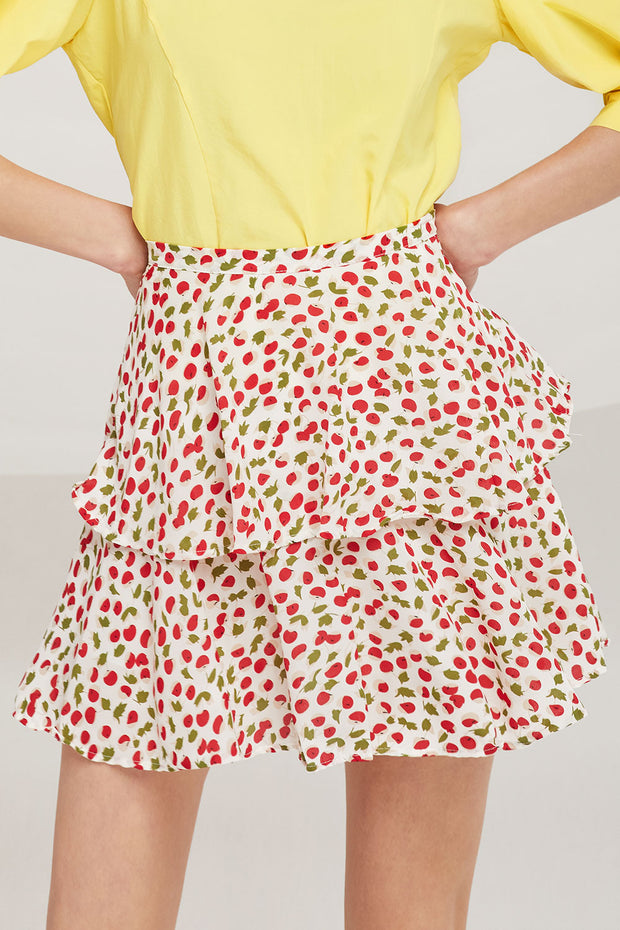 Liliana Cherry Berry Skirt by STORETS
