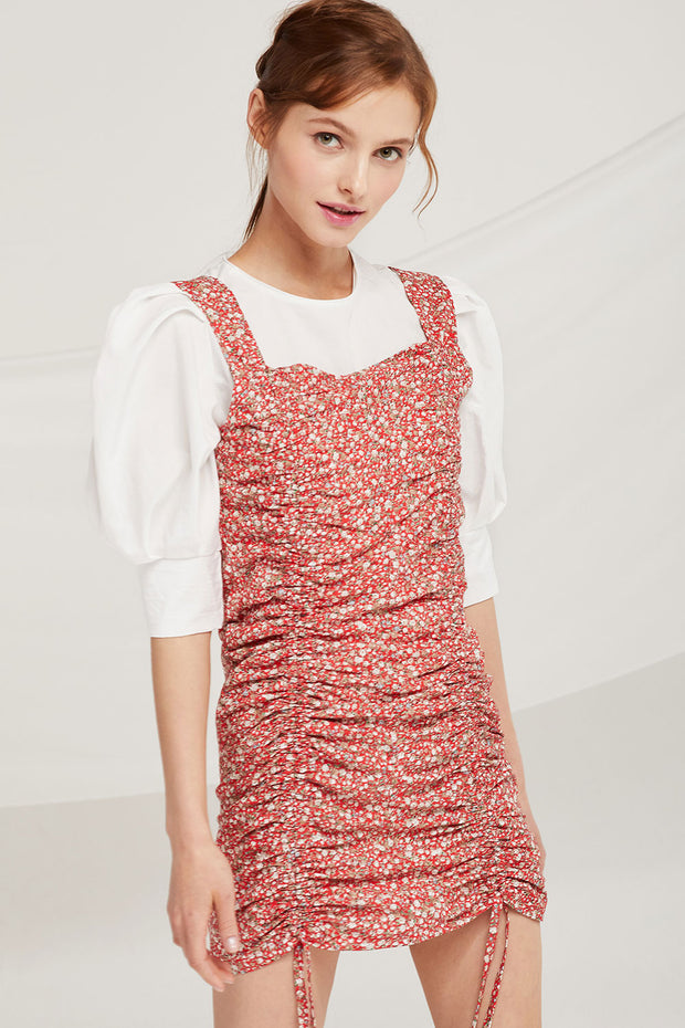 Riley Ruched Drawstring Dress