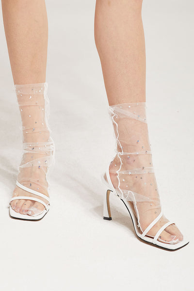 Sparkle Glitter Tulle Socks by STORETS
