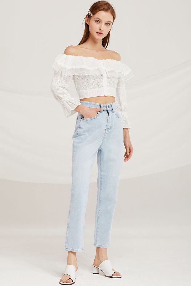 Peyton High Waist Tapered Fit Jeans