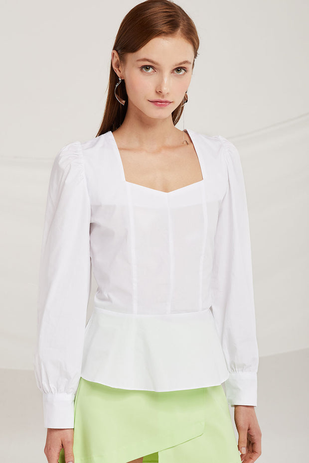 Isla Volume Sleeve Blouse by STORETS