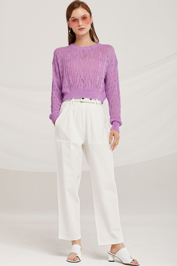 Nevaeh Cropped Cable Sweater