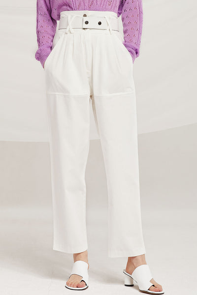 Gianna Belted Slouchy Pants by STORETS