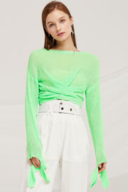 Bella Twist Front Knitted Jumper by STORETS