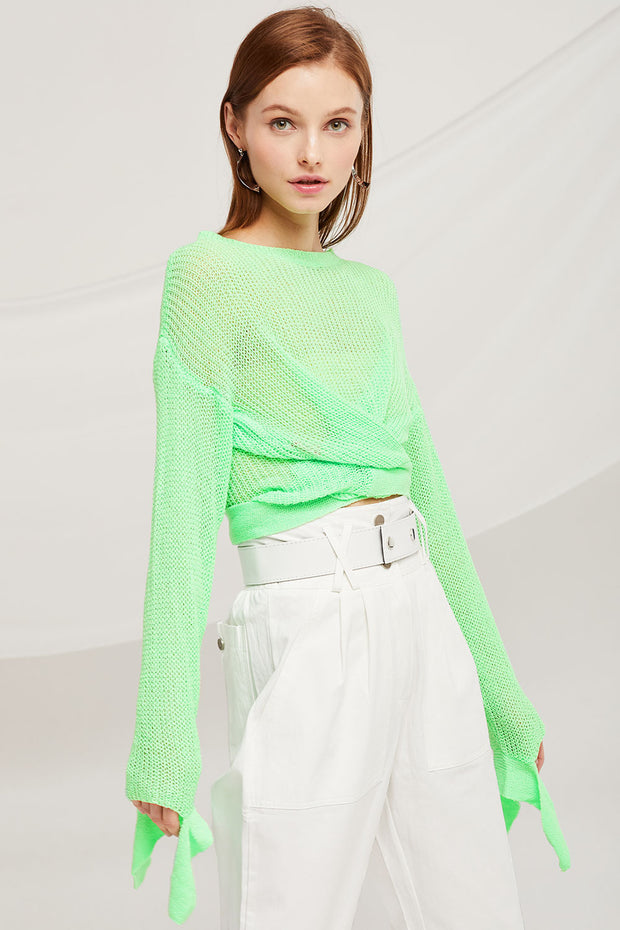 Bella Twist Front Knitted Jumper