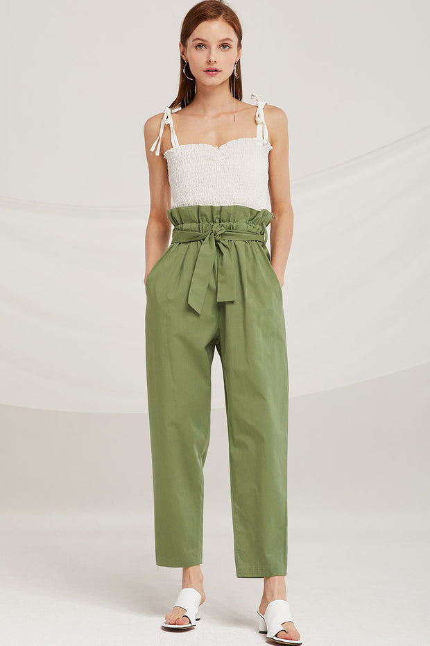 Willow Paperbag Belted Pants by STORETS