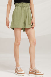 Madeline Paperbag Linen Shorts by STORETS