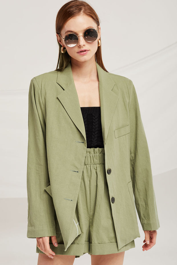 Madeline Oversized Linen Jacket by STORETS