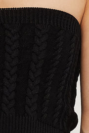 Alice Cable Knit Bandeau Top