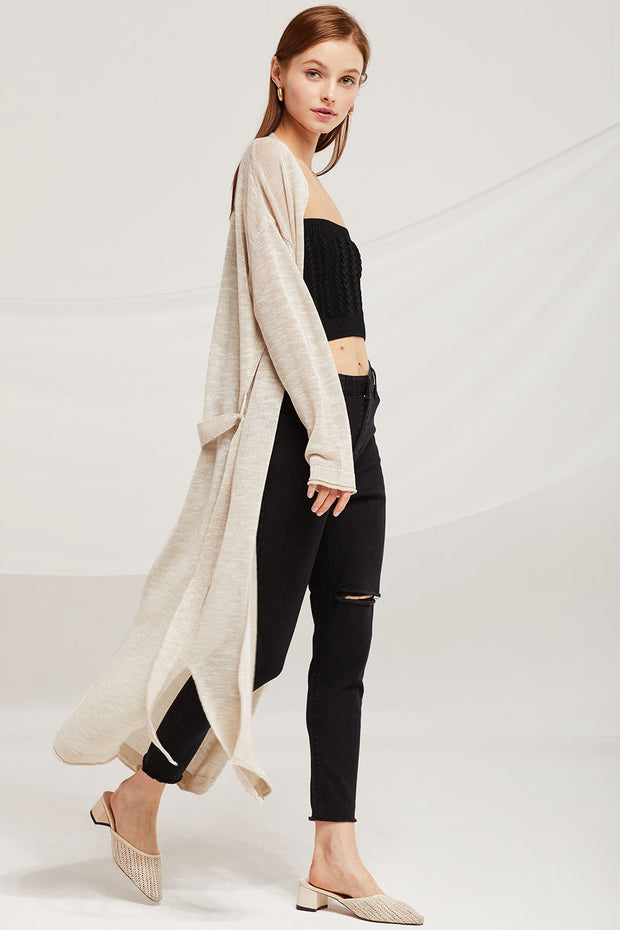 Hazel Summer Knit Long Cardigan