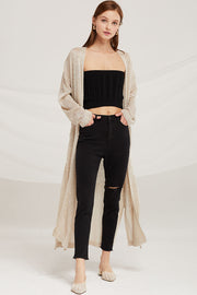 Hazel Summer Knit Long Cardigan by STORETS