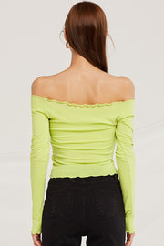 Ruby Ruched Top w/ Wavy Hem