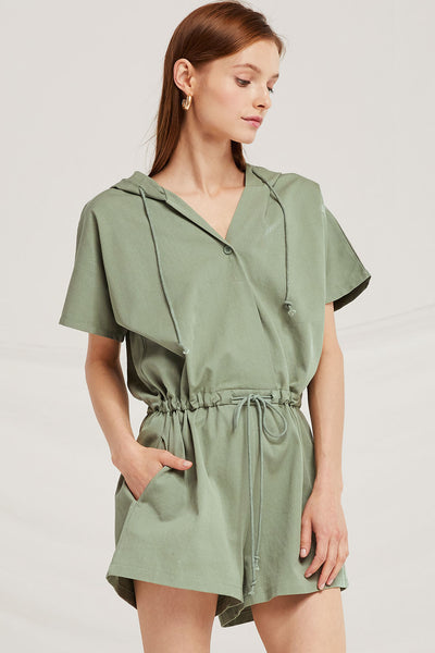 Eden Hooded Romper by STORETS