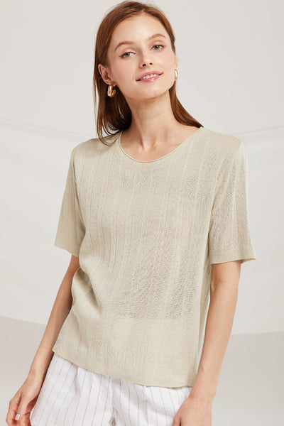 Emilia Sheer Knit Top by STORETS