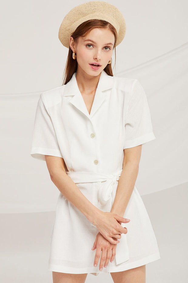 Grace Notch Collar Romper