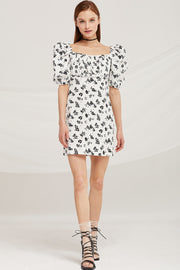 Chloe Square Neck Floral Dress by STORETS