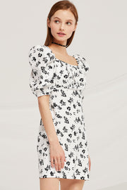 storets.com Chloe Square Neck Floral Dress