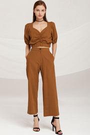 Maya Wide Leg Linen Pants by STORETS