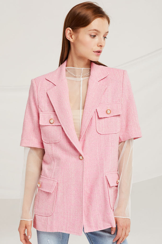 Leah Pearl Button Jacket