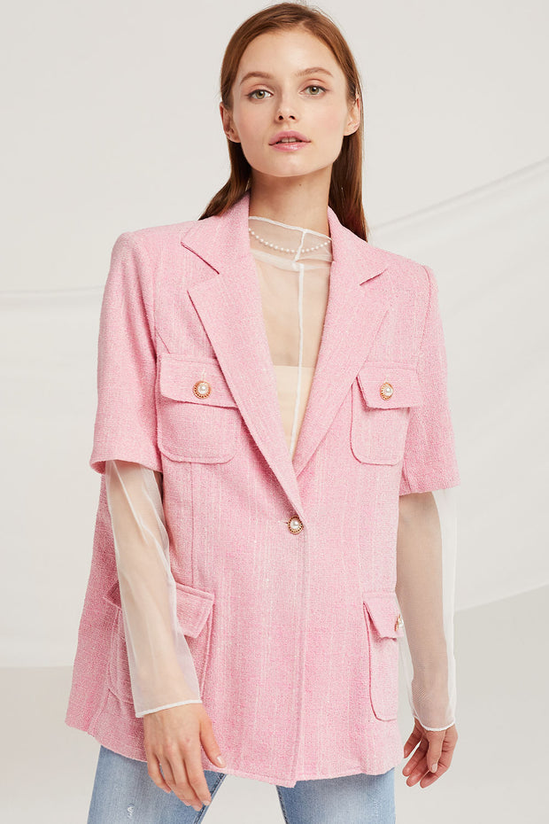 Leah Pearl Button Jacket by STORETS