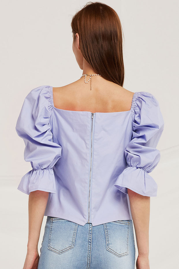 storets.com Lucy Puff Sleeve Wrap Top
