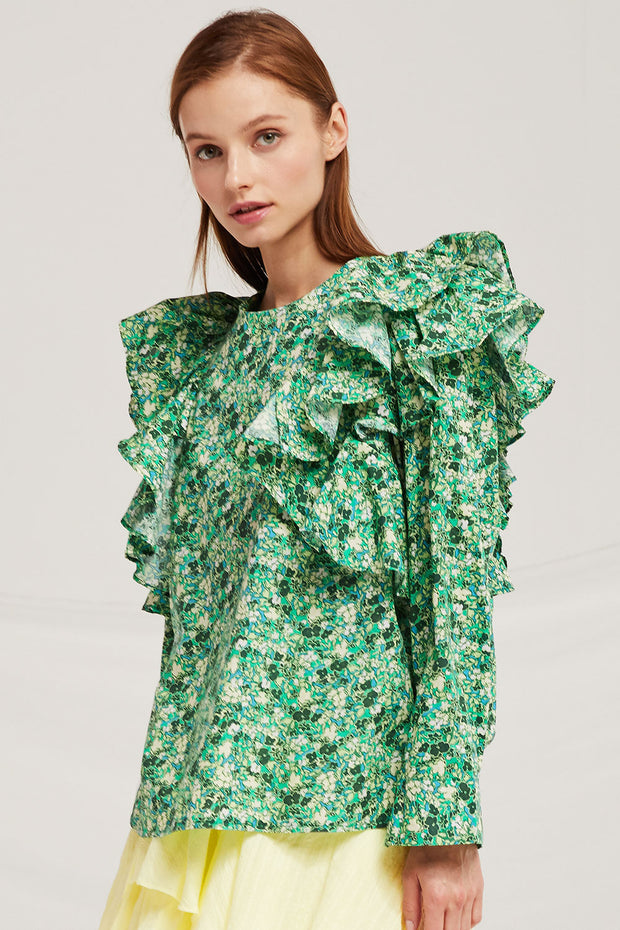 Delilah Floral Ruffle Blouse