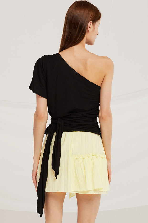 Audrey One Shoulder Tie Top