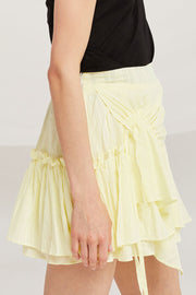 Kaylee Asymmetric Ruched Floaty Skirt