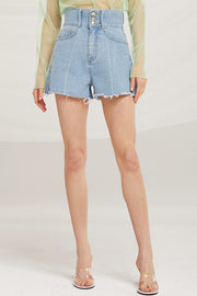 Clara High Waist Denim Shorts by STORETS