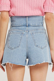 Clara High Waist Denim Shorts