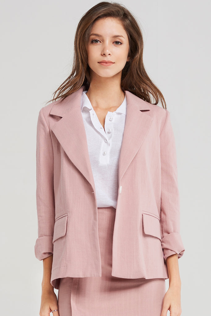 Lucy One Button Simple Jacket