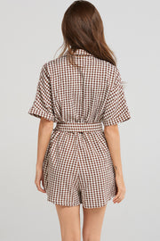 Nicole Checked Jumpsuit