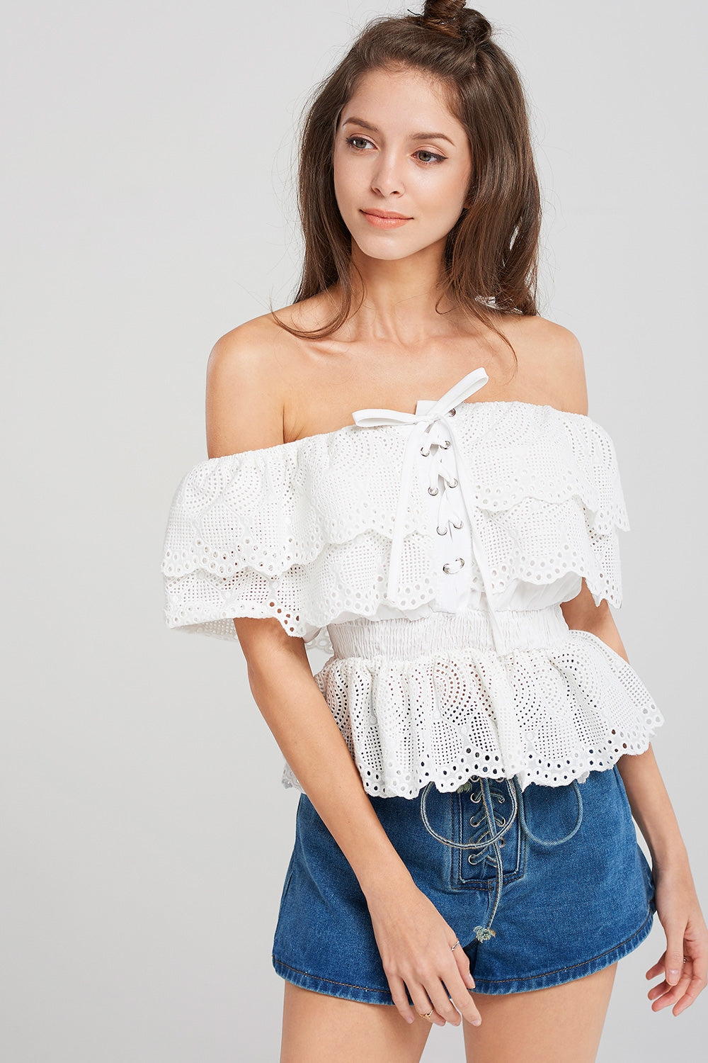 Shelby Eyelet Off Blouse