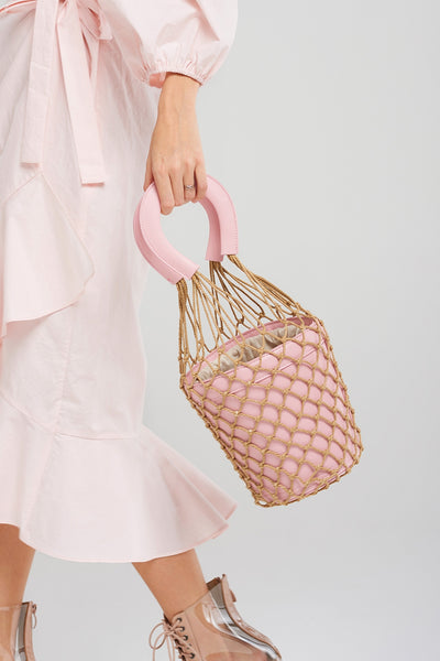 Pink Net Basket Bag