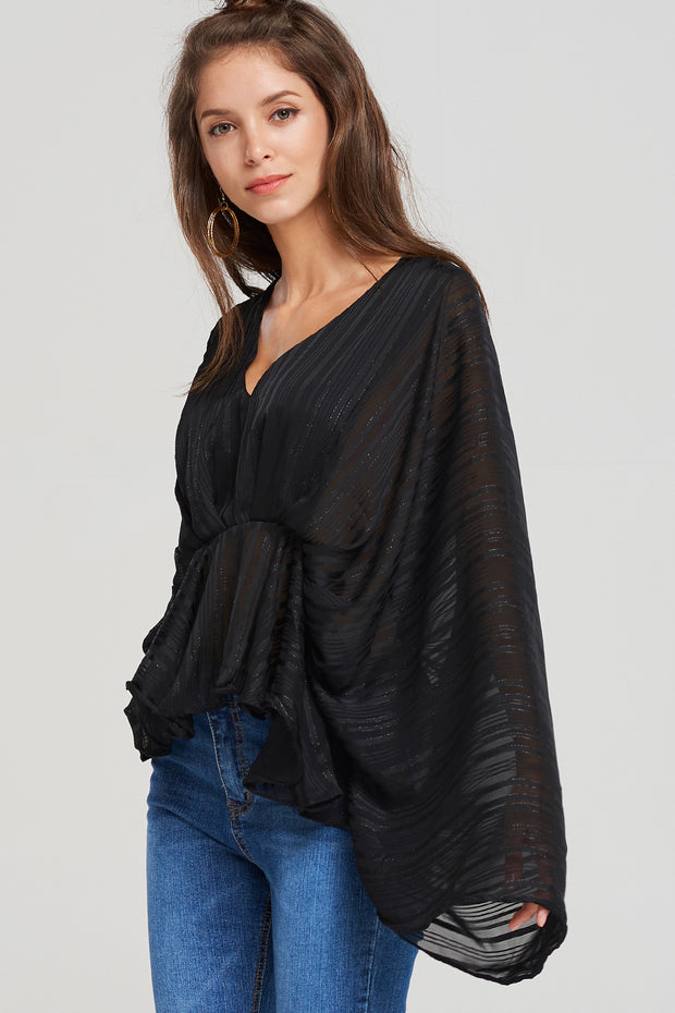 Linda Draped Shawl Blouse